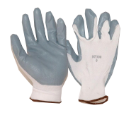 Nylon Coated Gloves Gray